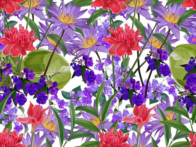Flor tropical sem costura