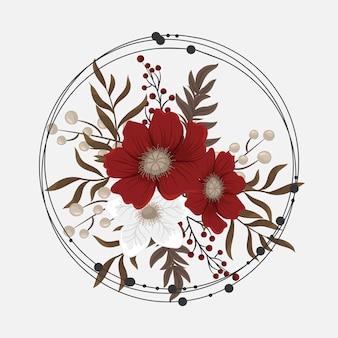 Flor vermelha clipart