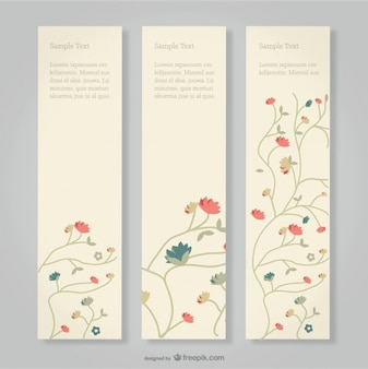 Floral banners set livre