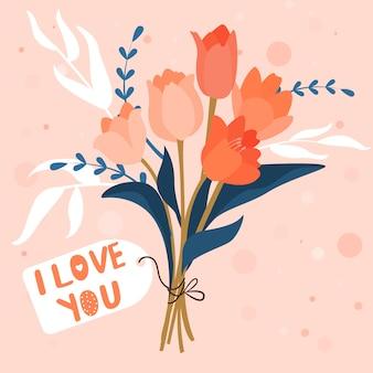 Floral. buquê de tulipa