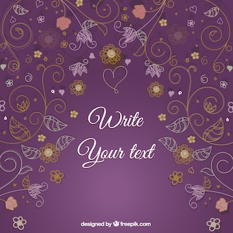 Floral decorativo cartão gráfico vetorial