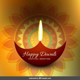 Floral diwali saudação