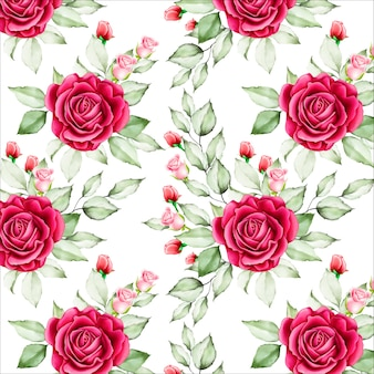 Floral e deixa o teste padrão sem emenda
