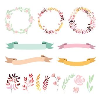 Floral e elementos decorativos
