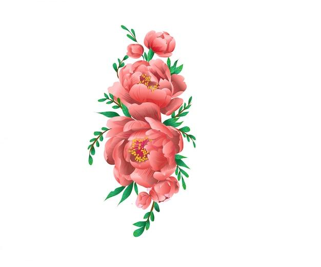 Floral para cartão de convite de casamento ou decoração ilustração vintage