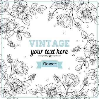 Floral projeto da linha de arte