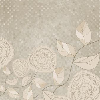 Floral romântico com rosas vintage.