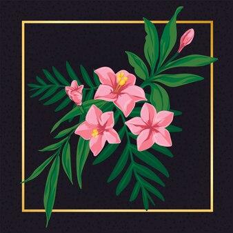 Floral rosa flor folha vintage natureza