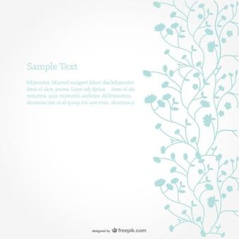Floral vector background design minimalista