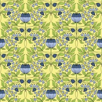 Floral vintage padrão sem emenda para papéis de parede retrô