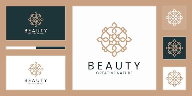 Flores abstratas de luxo que inspiram beleza, ioga e spa
