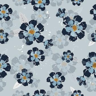 Flores abstratas superfície padrão sem costura de fundo vector