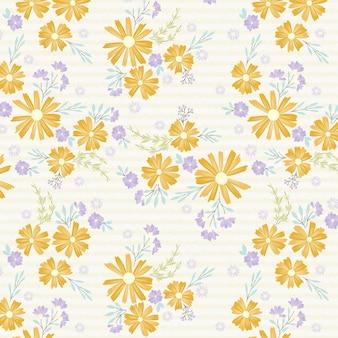 Flores amarelas e jardim de verão