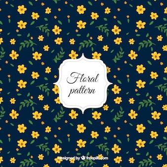 Flores amarelas padrão