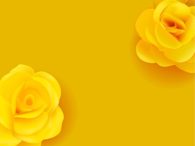Flores amarelas vetor realista. ilustrações de cartaz de decoração de verão