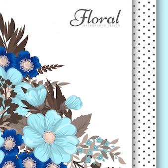 Flores azuis claras