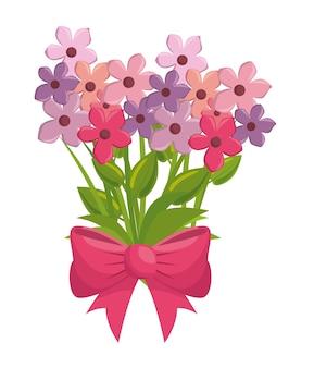 Flores bonitas com bown