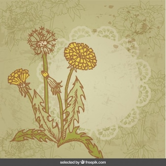 Flores cartão do vintage