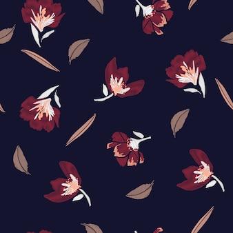 Flores clássicas bordados