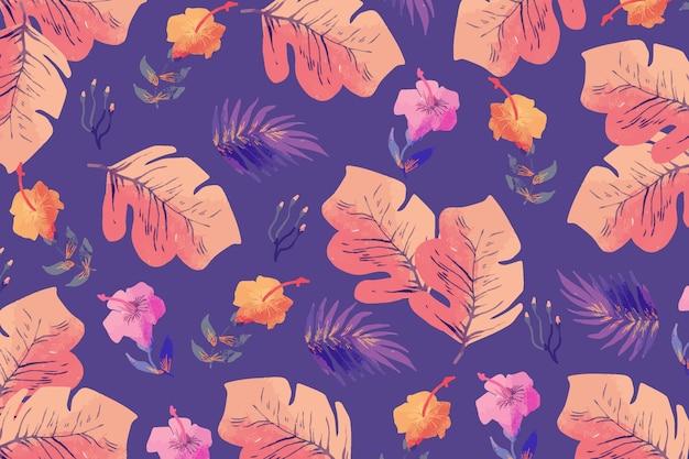 Flores coloridas desenhadas à mão