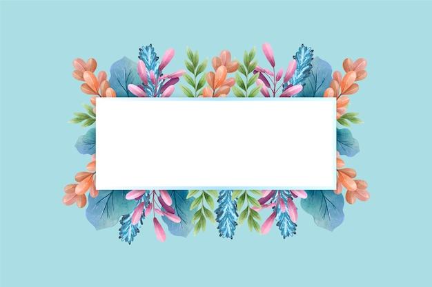 Flores coloridas do inverno com banner vazio