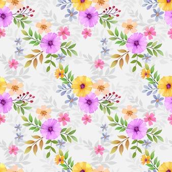 Flores coloridas sem costura para impressões de moda, embalagem, têxtil, papel, papel de parede.