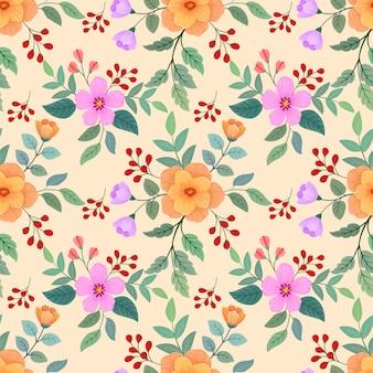 Flores coloridas sem costura