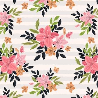 Flores com listras padrão