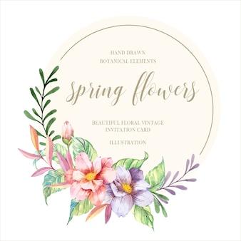 Flores da mola da aguarela