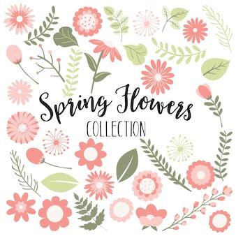Flores da primavera, pêssego e verde