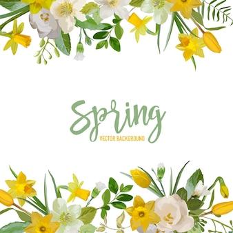 Flores de fundo de flores de primavera
