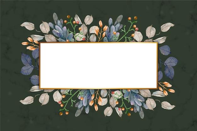 Flores de inverno colorido com banner vazio