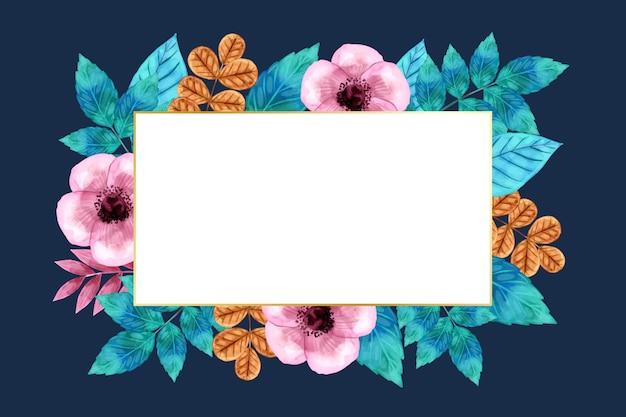 Flores de inverno com banner vazio