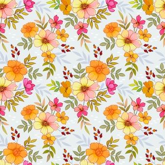 Flores de laranja padrão sem emenda