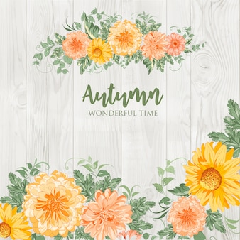 Flores de outono em flor.
