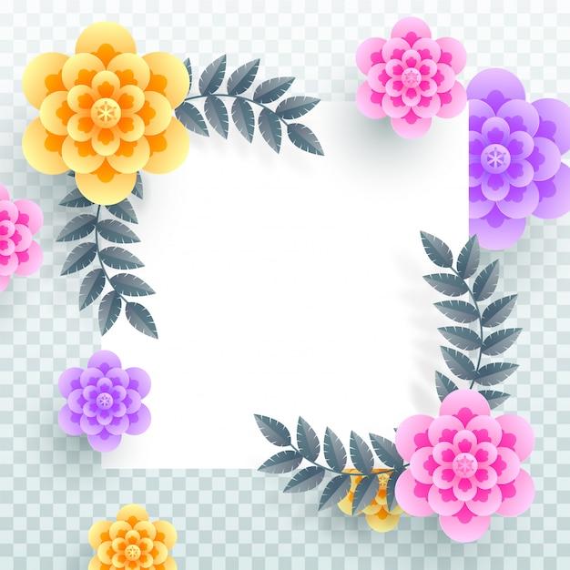 Flores de papel colorido.
