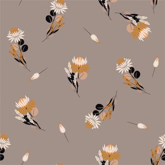 Flores de protea vintage padrão sem costura para moda, tecido, impressões, papel de parede e todas as impressões