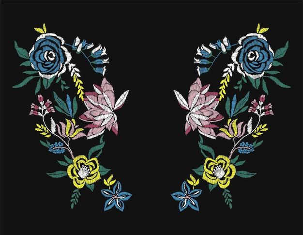 Flores de rosas stiches