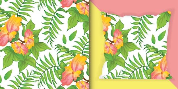 Flores de verão florescem ilustração padrão de impressão colorida.
