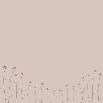 Flores desabrochando em um fundo bege