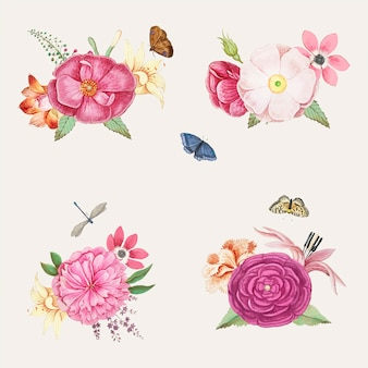 Flores desabrochando rosa