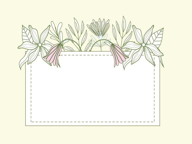 Flores dispostas em moldura