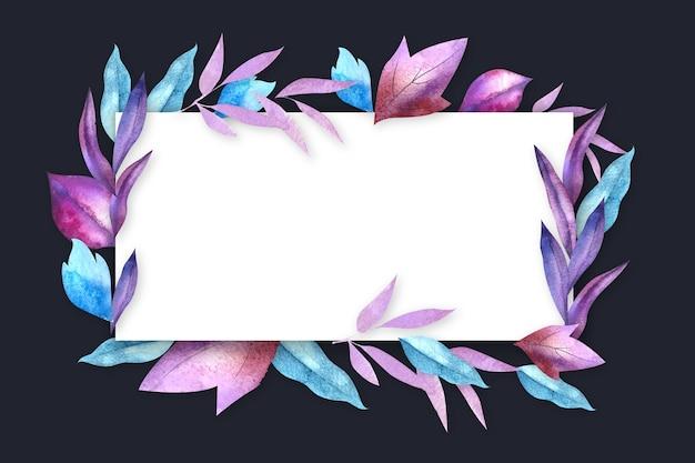 Flores do inverno com banner vazio