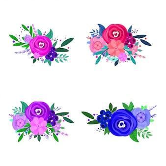 Flores do vetor, elementos decorativos do projeto para o verão.