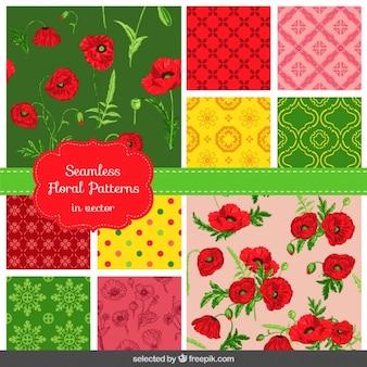 Flores e mosaicos abstratos