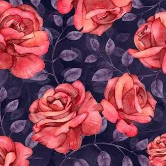 Flores em aquarela muito coloridas