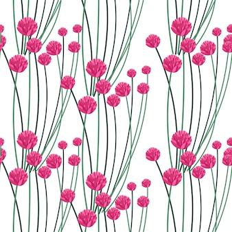 Flores em flor de flora e vetor de padrão de folhagem