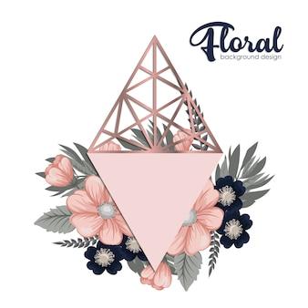 Flores, fundo, ilustração