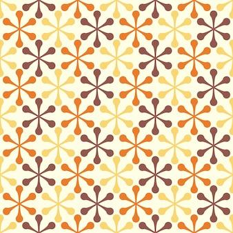 Flores geométricas retrô design padrão sem emenda