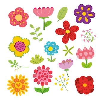 Flores ilustração coleção